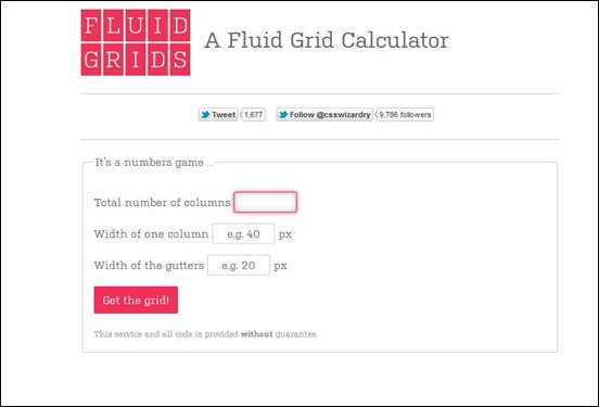 Fluid Grid Calculator