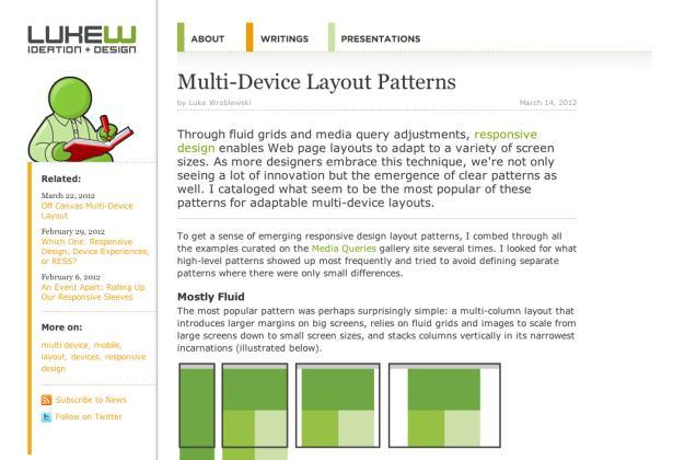 Multi Device Layout Patterns