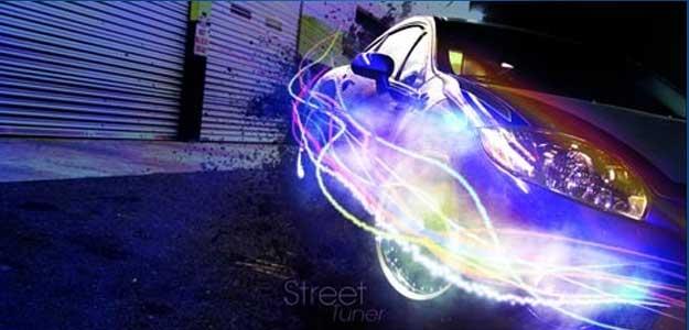 Super Slick Lighting Effect on a Car