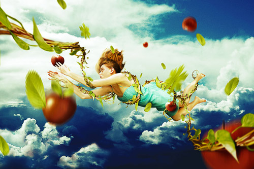 Falling Fantasy Photo Manipulation