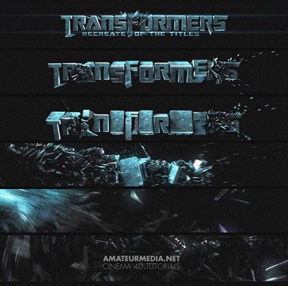 Transformers Title in C4D