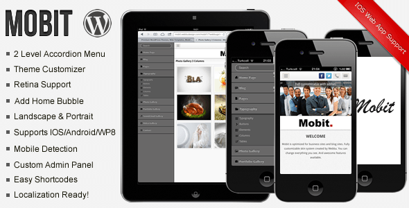 Mobit Mobile WP Template