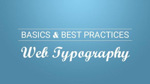 basics of web typography