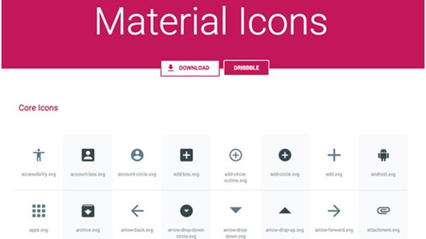 material icon pack