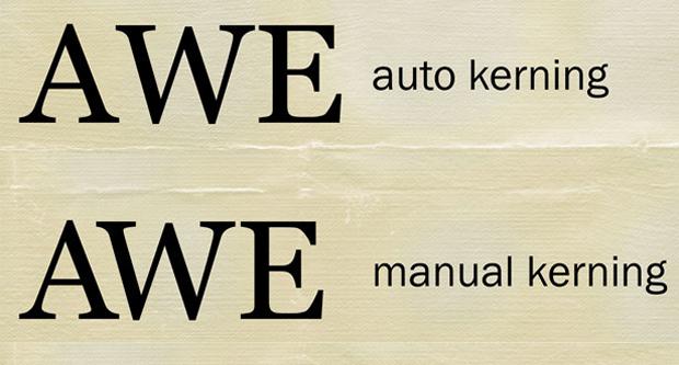 auto manual kerning