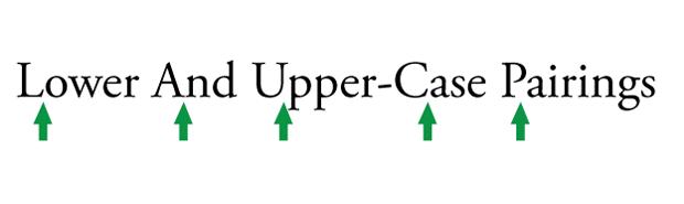 lowercase uppercase
