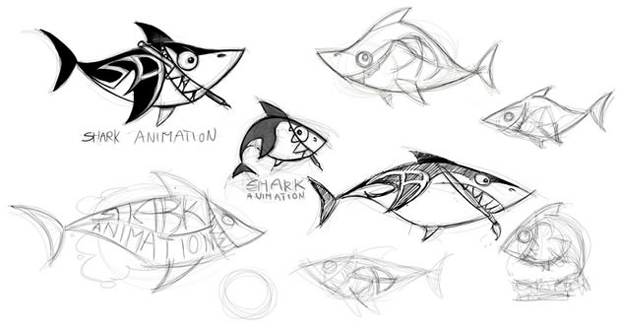 sketching a logo