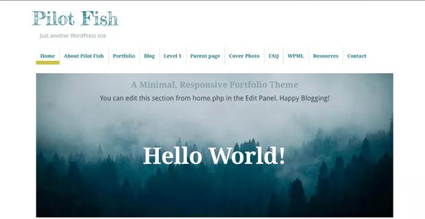 pilot fish wp theme