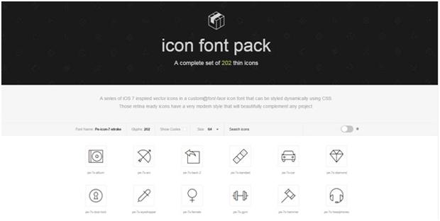 icon font stroke