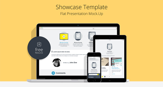 Flat Website Design